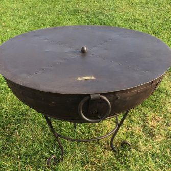 Indian Fire Bowl Lid Cover on Fire Bowl