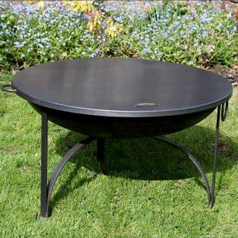 Flat Table Top Lid on Plain Jane Fire Pit