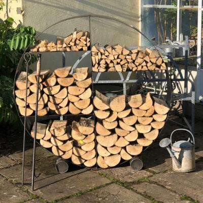 Circular Log Store FirepitsUK