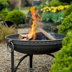 Plain Jane Fire Pit Lifestyle with Indian Band - Firepits UK - WEB - Lo Res