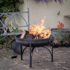 Plain Jane Fire Pit Lifestyle with Mosaic Band - FirepitsUK WEB - Lo Res