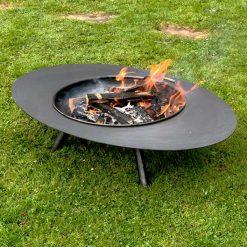 Calypso Fire Pit Lit Lifestyle - Firepits UK - WEB - Lo Res