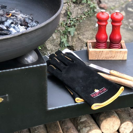 Fire Pit Gloves on Fire Pit Lifestyle - Firepits UK - WEB - Lo Res