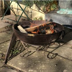 Kadai 80 Fire Pit Lit Lifestyle - Firepits UK - WEB - Lo Res