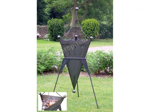 Patio Heater Crown Fire Pit Lifestyle - Firepits UK - WEB - Lo Res