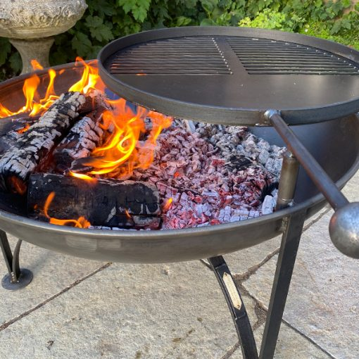 Plain Jane fire pit- fire half and half 1