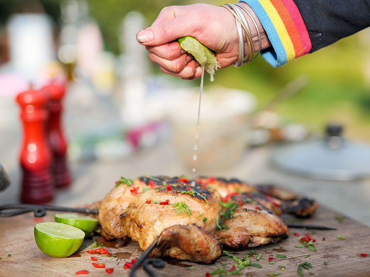Spatchcock Chicken roasted on Fire Pit with Lime and Chilli Lifestyle - Firepits UK - WEB - Lo Res