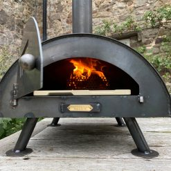 Table Top Pizza Oven Fire Pit Lit Lifestyle - Firepits UK - WEB - Lo Res2