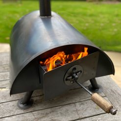 Table Top Pizza Oven Fire Pit Lit Lifestyle - Firepits UK - WEB - Lo Res4