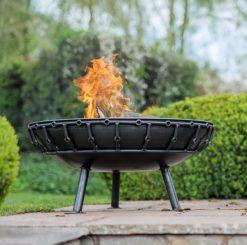 Viking Fire Pit Lit Lifestyle - Firepits UK - WEB - Lo Res