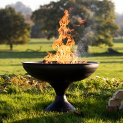 Wine Glass Fire Pit Lit Lifestyle - Firepits UK - WEB - Lo Res