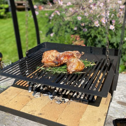 Katherine Wheel BBQ Fire Pit Cooking Joint Lifestyle - FirepitsUK - WEB - LoRes 1