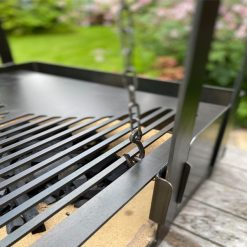 Katherine Wheel BBQ Fire Pit Grill Attachment Lifestyle - FirepitsUK - WEB - LoRes